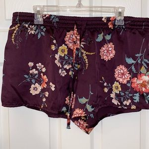 Satin sleep shorts